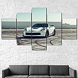 WJTYX Cuadro En Lienzo 5 Piezas Corte Grand Sport Car Mural 5 Piezas Inicio Decoración Lienzos Listo para Colgar Cuadros de 5 Piezas en Lienzo 150x80cm