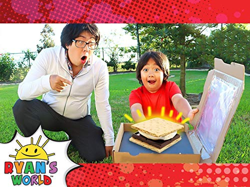 Ryan Makes S'mores with a DIY Solar Oven!