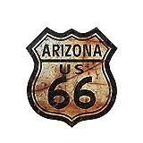 XCWQ Autoaufkleber 13 cm X 12 cm Auto Styling Route 66 Aufkleber Aufkleber Zeichen wasserdichte Stoßstange Zubehör