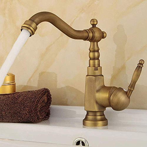 Buy Discount ZGQA-GQA European Kitchen Sink Faucet Copper Hot And Cold Wash Basin Basin Faucet Rotat...