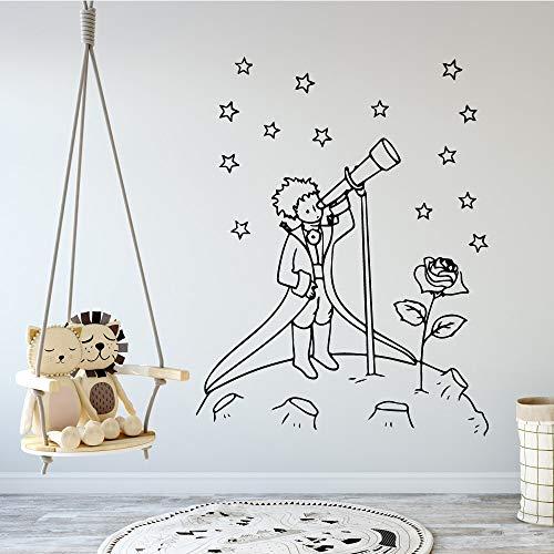 Der kleine Prinz Wandtattoos Vinyl Wandaufkleber Für Kinder Wandaufkleber kleiner Prinz Tapete Jungen Mädchen XL 57cm X 74cm