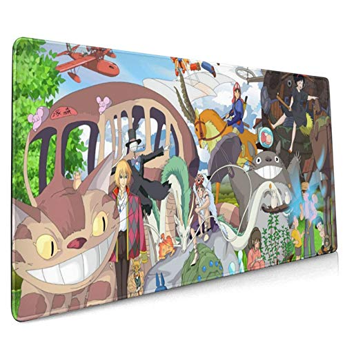 Studio Ghibli 35.5x15.8 Inch Large Gaming Mouse Pad One Piece Extended Mat Desk Pad Non-Slip Water-Resistant Rubber Mice Pads Anime Mouse Mat