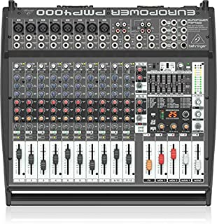 Behringer PMP4000 1600-Watt 16-Channel Powered Mixer with Multi-FX Processor and FBQ Feedback Detection System