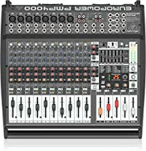 Behringer Europower PMP4000 Powered Mixer - 16 Channels, 1600 Watts with Multi-FX Processor and FBQ Feedback Detection System