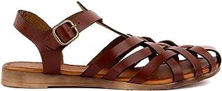 Sail Lakers - Kahverengi Deri Tokalı Kadın Bodrum Sandalet