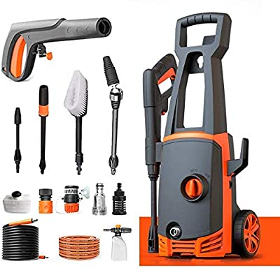 Indoor and Outdoor Cleaning Tools Mop Garden Pressure Washer, 1400W 110Bar, 360 Deg; Easy to Remove Dirt, TSS Stop System, High Power Pressure Cleaner for Vehicle, Home. dljyy from dljxx
