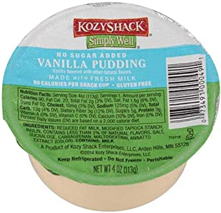 Kozy Shack Vanilla Pudding No Sugar Added, 4 Ounce -- 48 per case.