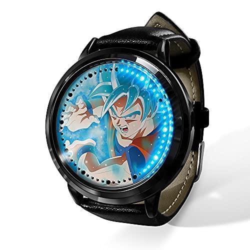 Anime Dragon Ball Saiyan Sun Wukong LED Reloj impermeable pantalla táctil digital luz reloj unisex Cosplay Props regalo New-13_F