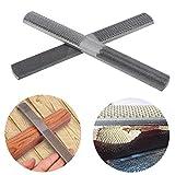 4 en 1 - Lima de madera plana semirredonda multifuncional de acero al carbono, herramienta para trabajo de carpintería, carpintería, con bolsa de almacenamiento negra