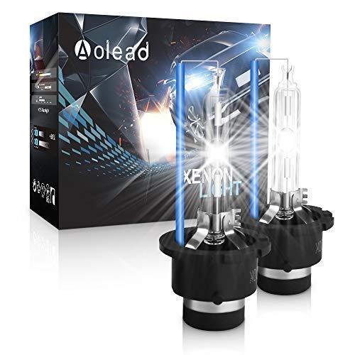 D2S Xenon Brenner - AOLEAD Hid Xenon Scheinwerferlampe 12V 35W, 8000K (2 Lampen)