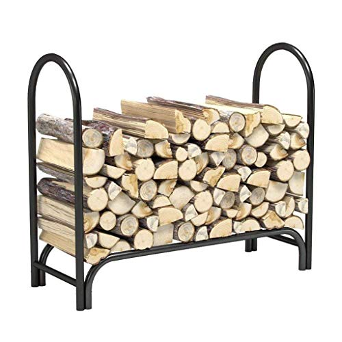 Find Bargain Xuejuanshop Outdoor Log Holder Firewood Rack Fireplace with Wood Frame Fireplace Access...