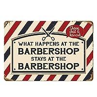 バーで起きたこと理髪店に留まる金属錫マークバーカフェガレージ壁装飾レトロレトロ7.87 X11.8インチ