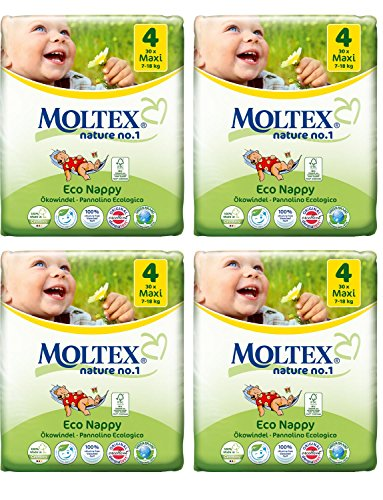 Lot de 4 couches Moltex Maxi Taille 4 (120 couches)