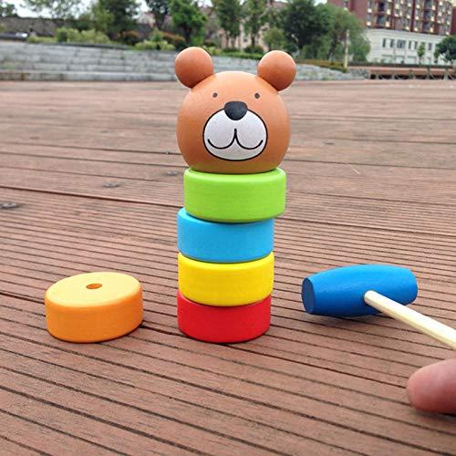 Unbreakable Wooden Man Magic Toy, Hölzernes Mann Spielzeug Daruma Puppe Lustige Marionette Zauberspielzeug für Kinder Halloween Weihnachten Halloween