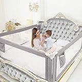 ZEHNHASE Barandilla de La Cama para bebés, Barrera de cama para niños Colchón...