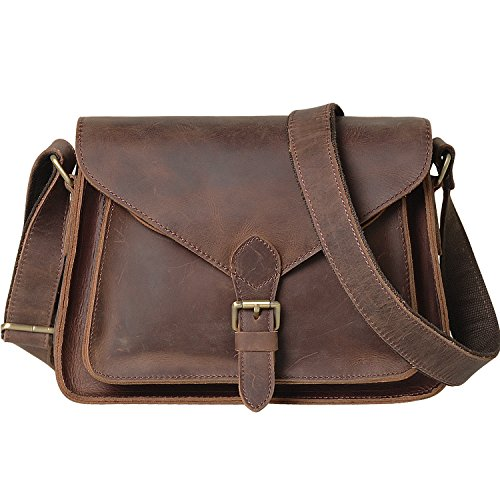 Jack&Chris Vintage Genuine Leather Handbag Large Tote...