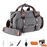 K&F Concept Kameratasche Messenger Tasche Fototasche für eine Systemkamera und Zwei Objektiv M