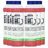 Purivita - Líquido descalcificador de 750 ml – Compatible con todos los fabricantes 6 botellas.