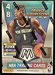 2019-20 Panini MOSAIC Basketball Card Factory Sealed Blaster Box Exclusive ORANGE FLOURESCENT PRIZMs Find Zion Williamson and Ja Morant Rookie Cards! Selling out fast!