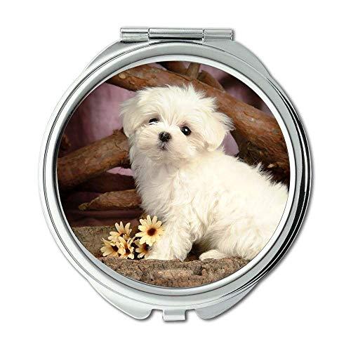 Yanteng Spiegel, Kleiner Spiegel, Pet Friendly niedlichen Hund Kostenloser Download, Taschenspiegel, 1 X 2 X Magnifying