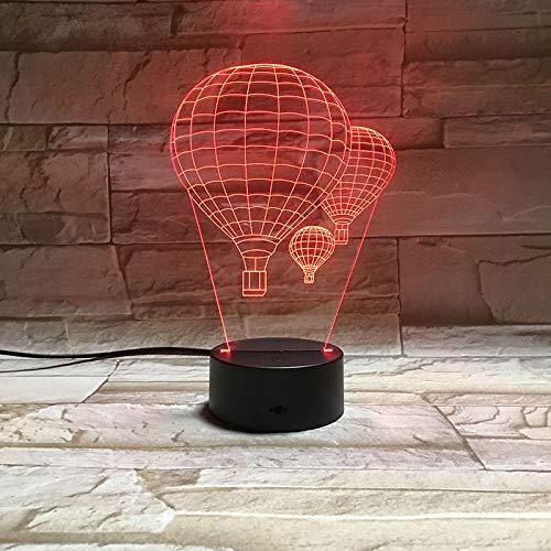 HGFHGD Globo de Aire Caliente Lámpara 3D Iluminación LED Mesa USB Mood...