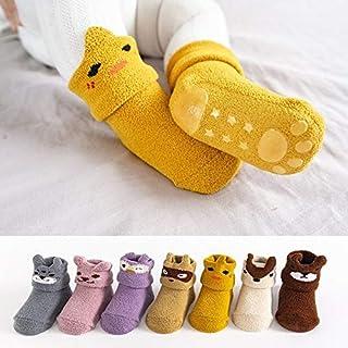 ZOUJIN Baby Socks Silicone Coral Fleece Newborn Non-Slip Soft Toddler Socks Cute Cartoons Floor Infant Elastic Socks For 0...