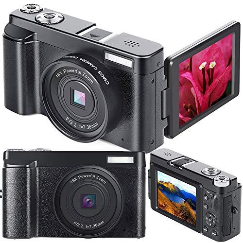 小型カメラ、 超小型カメラ 2400Wピクセル 1080P ビギナーのレベル ミニ HD デジカメ 一眼レフカメラ のために 写真術 ティーンズ 女の子 贈り物
