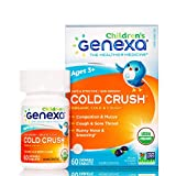 Genexa Cold Crush for Children - 60 Tablets | Certified Organic & Non-GMO, Physician Formulated, Homeopathic | Cough & Cold Medicine for Children