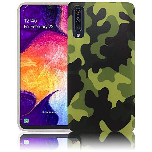 thematys Passend für Samsung Galaxy A50 Camouflage Handy-Hülle Silikon - staubdicht stoßfest und leicht - Smartphone-Case