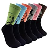 Funny Mens Novelty Presidents/Big Guy Dress Socks - HSELL Funky Patterned Cotton Fun Crew Socks