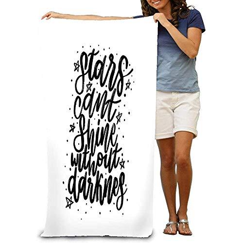 Yocmre Super Absorbent Strandhanddoek, polyester, fluweel, typografie, kalligrafie, emotie, magisch lettertype h