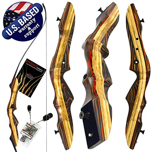 Southwest Archery Tigershark Takedown Recurve Bow – 62' Recurve Hunting Bow – Right & Left Hand – Draw Weights in 25-60 lbs – USA Based Company – Perfect for Beginner to Pro