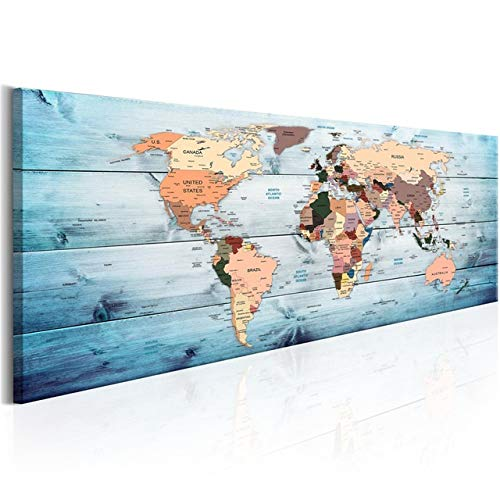 Large DIY Diamond Painting World Map Diamond Embroidery Mosaic Picture Of Rhinestones 5D Square Round Diamond Mosaic Home Decor Handmade cross stitch (Color : 2, Size : Round 50x150cm)