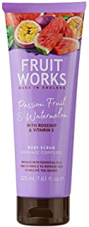 Fruit Works Passionfruit & Watermelon Cruelty Free & Vegan Body Scrub With Natural Extracts 1x 225ml