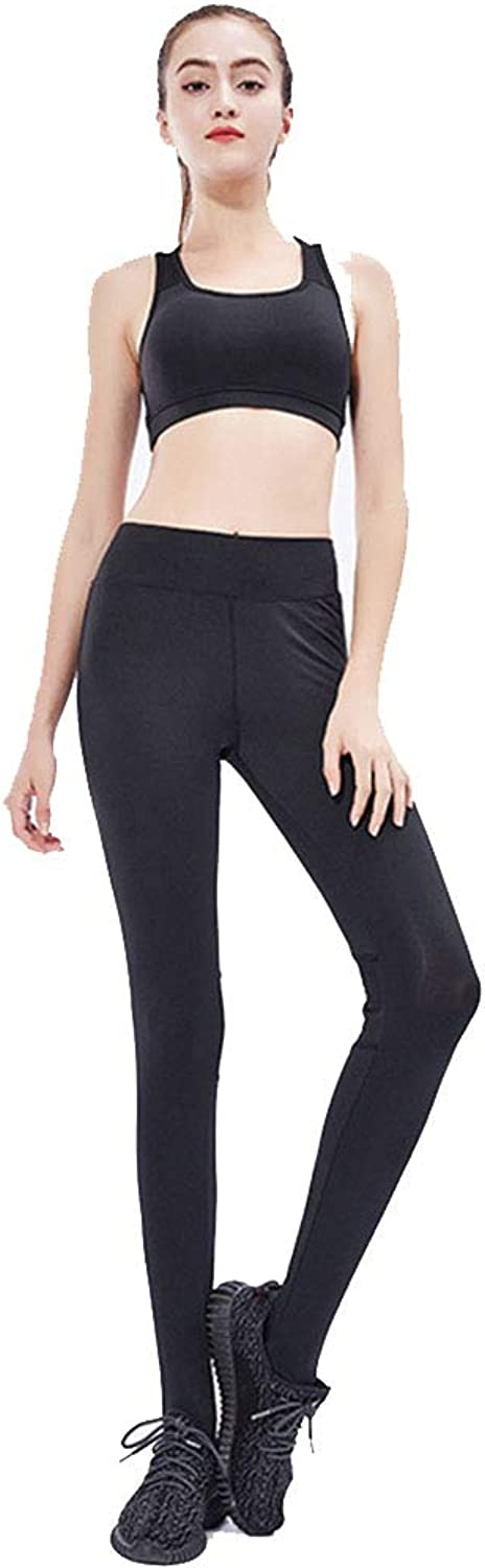 Women's Mesh Tight-Fitting Sweatpants Elastic Slim Outdoor Running Fitness Yoga Pants Stepping Pants (Size   S)