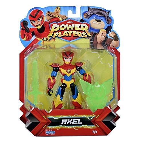 Power Players Figur, 12 cm, Axel, 10 Gelenkpunkte & Zubehör, Spielzeug für Kinder ab 4 Jahren, PWW013