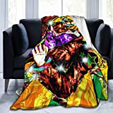 TopliTrend J-O-J-O-S Bizarre Adventure Blanket 50'x40' 3D Printed Super Soft Fleece Wool Ultra Luxurious Warm and Cozy for All Seasons The Perfect Caring Gift for Best Friends, Couples & Family