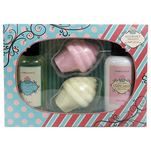 Gloss! Cupcakes By Gourmet Delights Coffret de Bain Coco 4 Pièces