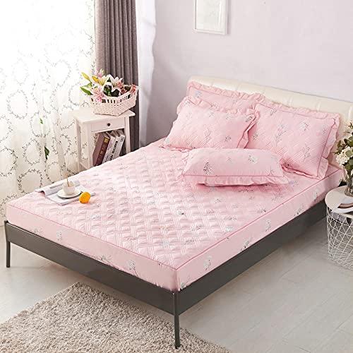 CYYyang Unterbett Soft-Matratzen-Topper, Matratzenschutz Boxspring-Betten geeignet Einzelstück Bettlaken verdickt-10_180cmx200cm
