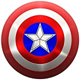 Captain America Shield Costume Adult 24 inch Shield by NURTIUPS 1:1 Replica of The Captain America Shield for Adults, Costumes Cosplay Shield with Two Adjustable Straps, Cosplay Props & Collectibles