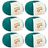 Lana para bebé Merino Baby - Lana para bebé suave en 7 colores + etiqueta...