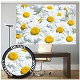 GREAT ART XXL Poster – Gänseblümchen Wiese – Wanddekoration Wandbild Natur Paradies Nature Deko Wanddeko Weisse Blüten Wohnzimmer Blumen Motiv Wandgestaltung Design (140 x 100 cm)