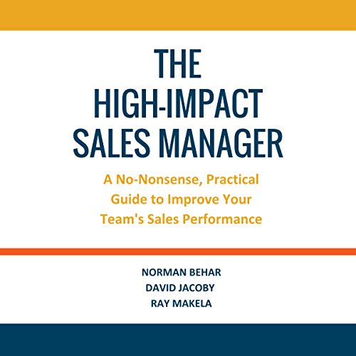 The High-Impact Sales Manager audiobook cover art