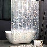Duschvorhang Transparent 180x180cm Duschvorhänge Anti-Schimmel Wasserdichter Badewanne Vorhang Eva Badevorhang Shower Curtains Klar für Badezimmer