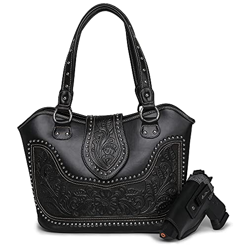 Montana West Ladies Tooled Concealed Gun Carry Purse Fashion...