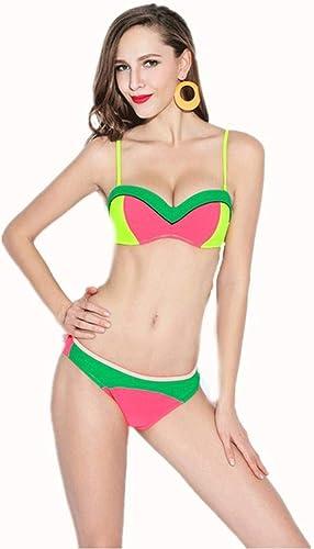 Yingsssq Bikini de Style européen Bikini Lady Bikini Triangle Fendu, M (Couleuré   -, Taille   -)