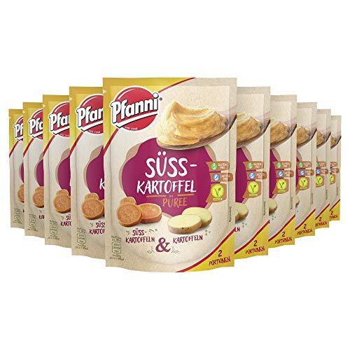 Pfanni Süßkartoffelpüree für die schnelle Zubereitung Süsskartoffeln und Kartoffeln vegetarisch, 10 x 60 g