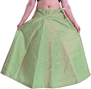FEMEZONE Brocadesilk Ethnic Traditional Lehenga/Skirt for Party/Festival function,pista green