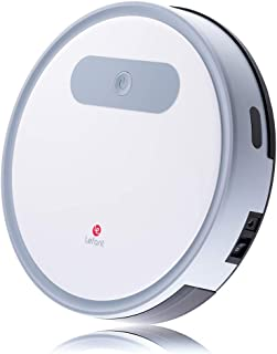 Lefant M300 Robot Vacuum Cleaner,1200Pa Strong Suction,Super Quiet, Robotic Vacuums Cleaner,Cleans Pet Hair,Hard Floors to Medium-Pile Carpets,White