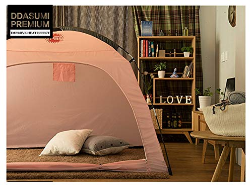 DDASUMI Warm Tent for Single Bed Without Floor - Indoor Tent (Brown)